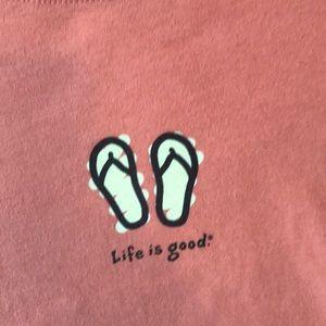 Life Is Good Tops - Flip Flop Tee